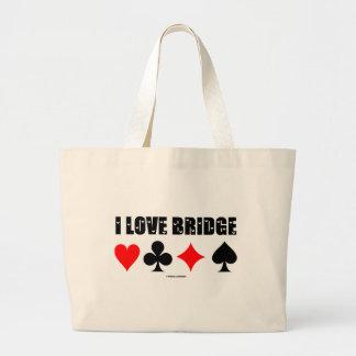I Love Bridge (Bridge Game) Tote Bag