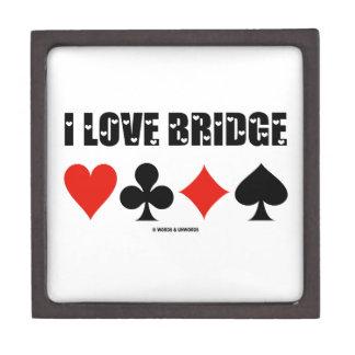 I Love Bridge Card Suits Bridge Attitude Gift Box