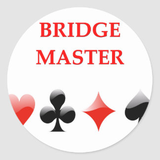 i love bridge classic round sticker
