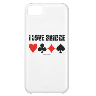 I Love Bridge (Four Card Suits) Cover For iPhone 5C