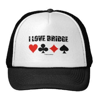 I Love Bridge (Four Card Suits) Trucker Hat