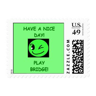 i love bridge postage