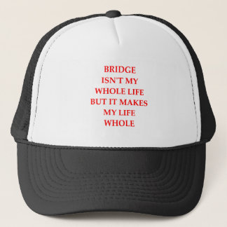 i love bridge trucker hat