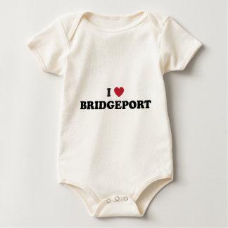 I Love Bridgeport Connecticut Baby Bodysuit