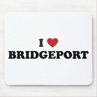 I Love Bridgeport Connecticut Mouse Pads