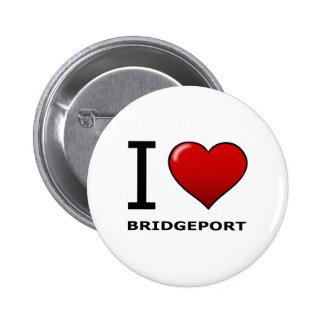 I LOVE BRIDGEPORT,CT - CONNECTICUT PINBACK BUTTON