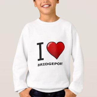 I LOVE BRIDGEPORT,CT - CONNECTICUT SWEATSHIRT