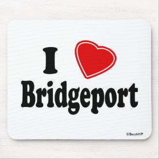 I Love Bridgeport Mouse Pads