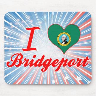 I Love Bridgeport, Washington Mousepad