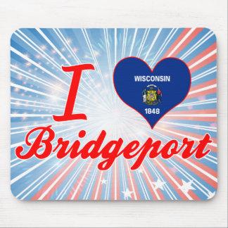 I Love Bridgeport, Wisconsin Mousepad