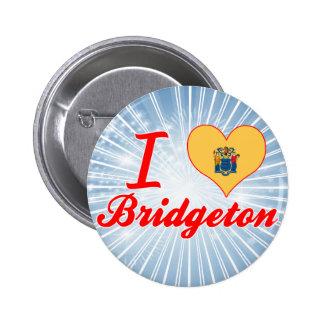 I Love Bridgeton New Jersey Button
