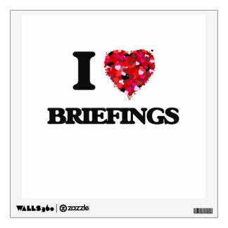 I Love Briefings Wall Skin
