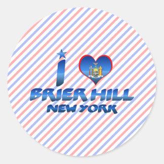 I love Brier Hill, New York Classic Round Sticker