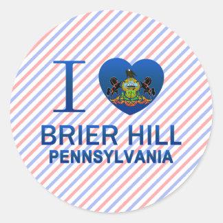 I Love Brier Hill, PA Classic Round Sticker