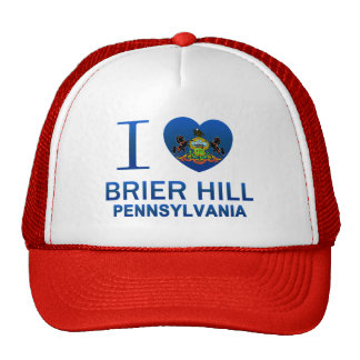I Love Brier Hill, PA Mesh Hat