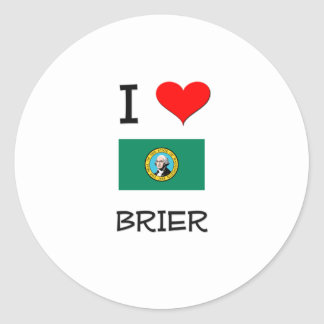 I Love Brier Washington Classic Round Sticker