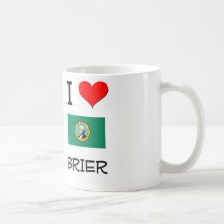 I Love Brier Washington Classic White Coffee Mug