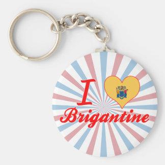 I Love Brigantine, New Jersey Basic Round Button Keychain