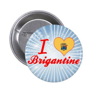 I Love Brigantine New Jersey Pinback Button