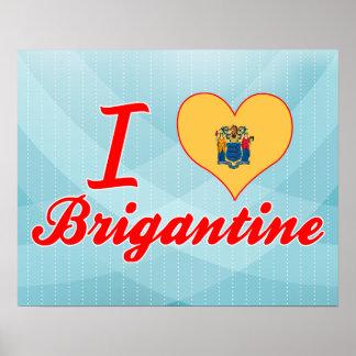I Love Brigantine, New Jersey Poster