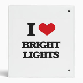 I Love Bright Lights Vinyl Binder