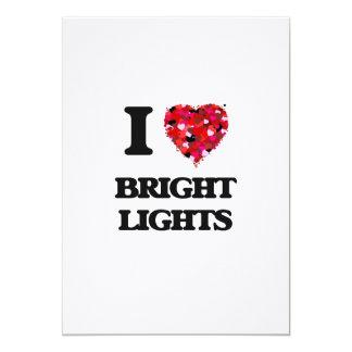 I Love Bright Lights 5x7 Paper Invitation Card