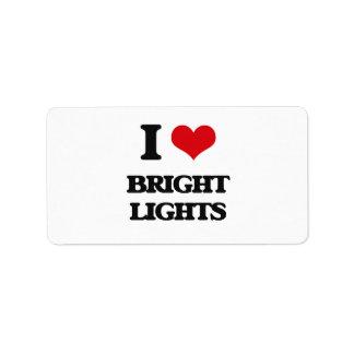 I Love Bright Lights Address Label