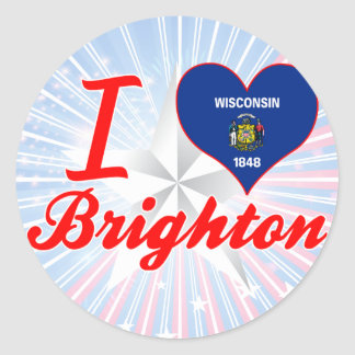 I Love Brighton, Wisconsin Classic Round Sticker
