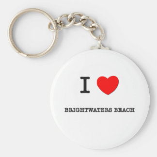 I Love BRIGHTWATERS BEACH New York Basic Round Button Keychain