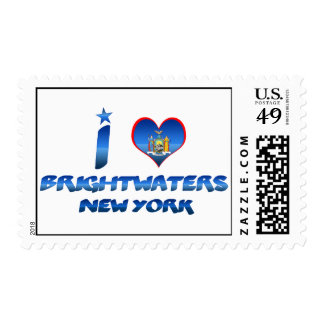 I love Brightwaters, New York Stamps