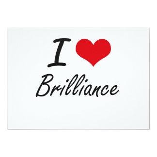 I Love Brilliance Artistic Design 5x7 Paper Invitation Card