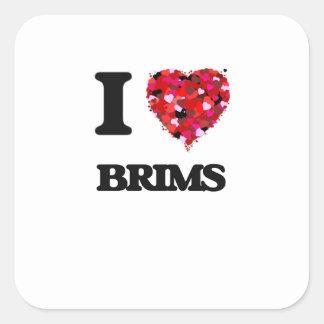 I Love Brims Square Sticker
