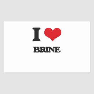 I Love Brine Rectangular Sticker