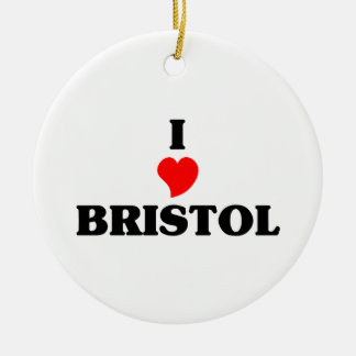I love Bristol Cn Ceramic Ornament