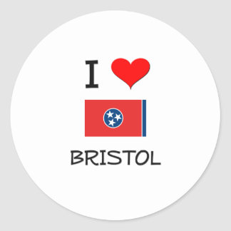 I Love Bristol Tennessee Classic Round Sticker