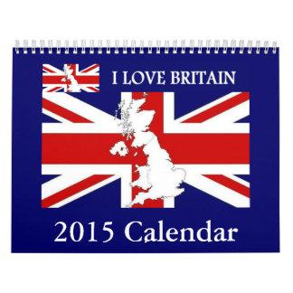 I LOVE BRITAIN 2015 Wall Calendar