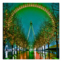 I Love Britain London Christmas Posters