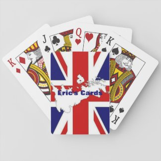 I Love Britain Playing Cards