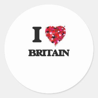 I Love Britain Classic Round Sticker