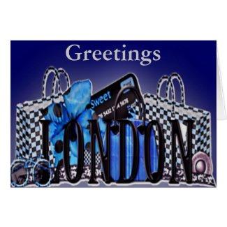 I Love Britian Greeting Card