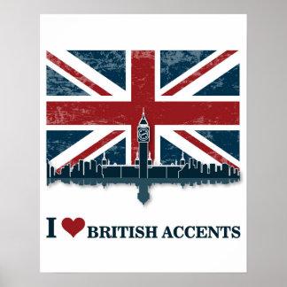 I Love British Accents Art Print