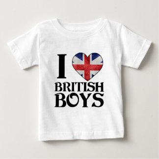 I love British Boys Baby T-Shirt