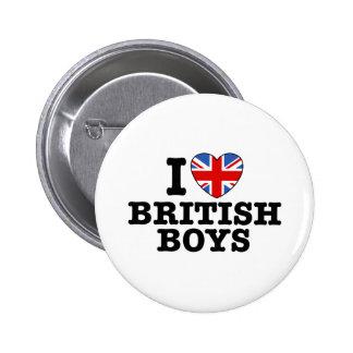 I Love British Boys Pin