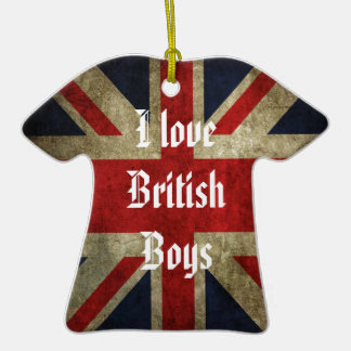 I Love British Boys Flag Ornament  1D
