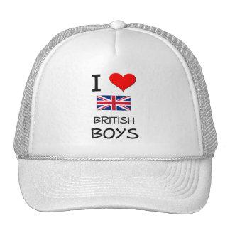 I Love British Boys Mesh Hat