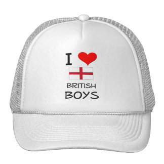 I Love British Boys Hat