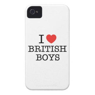 I Love British Boys iPhone 4 Case