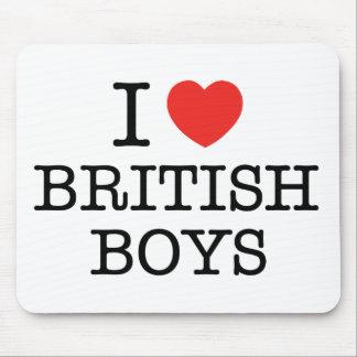 I Love British Boys Mouse Pad