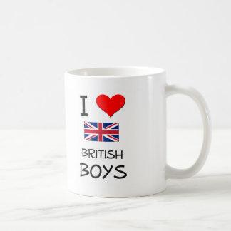 I Love British Boys Coffee Mugs
