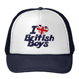I Love British Boys Trucker Hat